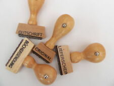 """Standard Office Rubber Stamp Wood Font Height 0.15"""""""