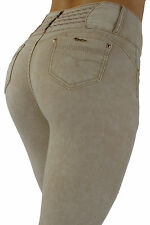 MH6808 - High Rise Colombian Style Super Stretch, Butt Lift, Skinny Jeans