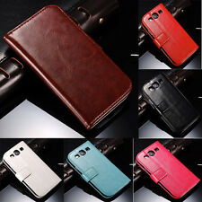 Stand Leather Flip Wallet Case Cover for Samsung Galaxy S3 I9300
