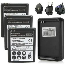 3x/2x/1x 2600mAh Battery+Wall Charger For Samsung Galaxy Note 1 N7000 i9220 i717