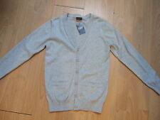 Next boys grey cotton button up cardigan jumper age 4 6 7 8 9 10 11 12 years