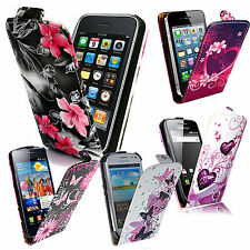 New Leather Case Cover Flip for Various Mobile Phones + Free Stylus