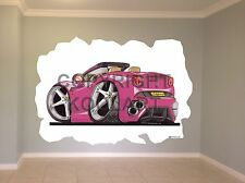 Huge Koolart Cartoon Ferrari California Wall Sticker Poster Mural 2866