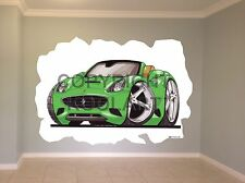 Huge Koolart Cartoon Ferrari California Wall Sticker Poster Mural 2868
