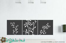 Whimsical Flower Panels Wall Art Decals Stickers 715