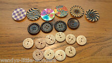 Large Wooden Buttons 30mm 25mm 20mm Flower Zebra Sewing Coat Buttons