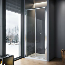 Walk In Bifold Shower Door Enclosure Glass Screen Cubicle Stone Tray+WASTE TRAP