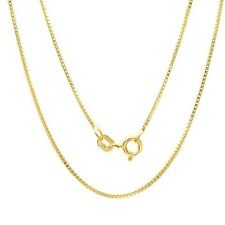 925 sterling silver Box Chain necklace for pendant 18 Karat Yellow Gold Plated