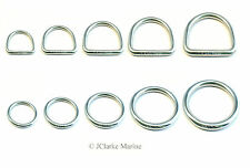 O & Dee D Ring rings A4 316 stainless steel polished welded 15mm 20 25 30 40 50