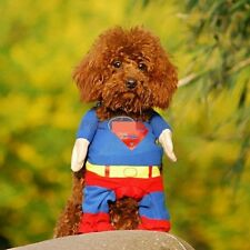 Dog Clothes Costumes Superman for Dogs - L - Super man Dog Suit