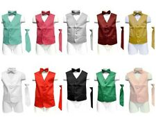 Boys Satin Vest tie and bow tie combo many colors to choose from all sizes