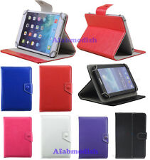 "For Various 7 Inch Tablet PC 7"" Universal PU Leather Stand Folio Case Cover New"