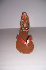 ZIGI SOHO ANGELIC CORAL COLOR WOMEN'S SATIN THONG SANDALS SIZE 8 NEW IN BOX!!