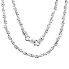 """925 Sterling Silver Berry chain Necklace for pendant 16"""", 18"""",20"""", 22"""", 24"""", 30"""""""
