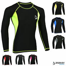 Deckra Mens Compression Shirt Base Layer Armour Long Sleeve Sports Shirt