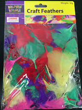 craft feathers mixed bag vibrant colours arts & crafts scrapbooking card making