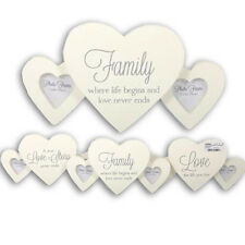 HEART SHAPE PLAQUE PHOTO FRAME PICTURE MESSAGE POEM STAND GIFT LOVE HOME NEW