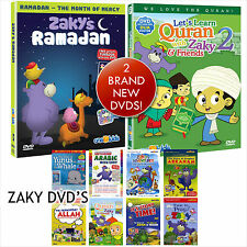 Islamic Childrens DVD. Zaky Collection. 10 DVDs inc Lets Learn Quran 2 & Ramadan