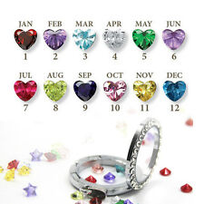 HOT 10pcs of each month - Birthstone Floating Charm For Living Memory Locket US