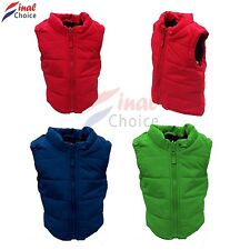 Kids toddlers boys girls Red Body Warmer ex lot store clearance 1-7 years of age
