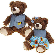 """Flutter Bugs Bears Dog Toy Soft Curly Plush Big Dogs Puppies Squeaker 12"""""""