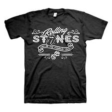 Rolling Stones Tumbling Dice Band Logo Licensed NWT Adult T-Shirt - Black