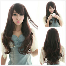 New Girls Long Wave Curly Full Wig Hair Cosplay Costume Party Synthetic Wigs Cap