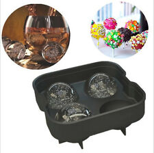 Summer Ice Ball Sphere-4 Mold Prepare Tray Bricks Tray Maker Whiskey PINK Black