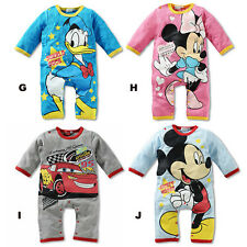 Baby Boys Girls Disney Animal Bodysuit Outfit Costume Romper Clothes Set 0-18M