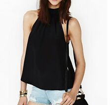 Women Summer Loose Casual Chiffon Sleeveless Vest Shirt Tops Blouse Ladies Top a