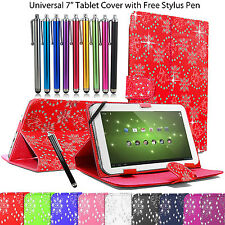 Universal Leather Folding Folio Stand Case Cover Pouch For All 7 Inch Tablets