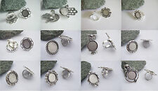 2-30pcs Lot Antique Silver Ring Tray Oval/Round Base Settings Cabochons Cameo