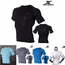 Mens Short Sleeve Compression Shirts Base Layer Short Sleeves Top Mesh SP