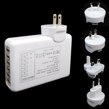 6 Ports Home Wall Travel USB Charger 5V AC Power Adapter For Samsung Galaxy HTC