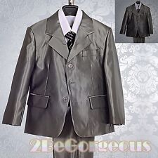 5 pcs Formal Suit Wedding Page Boy Christening Outfit Dinner Age 1-6 Years #017A