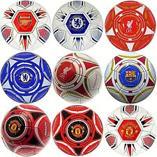 NEW SEASON OFFICIAL 2015 SIZE 5 CLUB CRESTED FOOTBALL SPORTS SOCCER BALL (HEX)