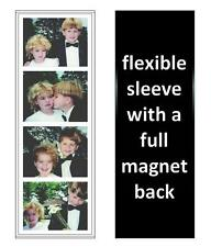125 Photo Booth Magnetic Frames made in USA, Full Magnet, white/black, free ship