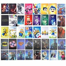 For iPad Leather Cover Case Stand spiderman superman Batman frozen cartoon