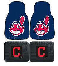 Cleveland Indians MLB Floor Mats 2 & 4 pc Sets for Cars Trucks & SUV's