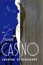 The French Casino Dance Show Theater Restaurant Vintage Poster Repro FREE S/H