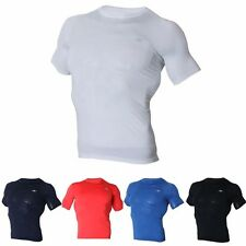Mens Short Sleeves Compression Shirts Basic Base Layer Short Sleeves Top ES