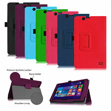 "For Nextbook 8"" Windows 8.1 Tablet 8-inch Vegan Leather Folio Stand Case Cover"