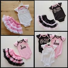 H07 Cute Newborn Baby Girl Child Cotton Romper Rock Princess Jumpsuit TUTU Dress