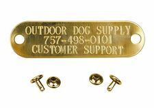 Custom Brass Engraved Stamped Name Tag Dog Pet ID Tags for Collar