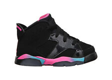 [384667-050] AIR JORDAN RETRO 6 TD HARD BOTTOM INFANTS SHOES BLACK / PINK FLASH-