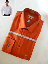 Van Heusen SPICE Wrinkle Free Stretch Fitted Solid Point-Collar Dress Shirt NEW