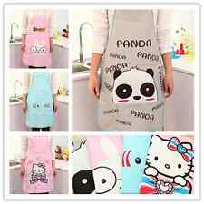 New Cute Cartoon Women Kitchen Restaurant Bib Cooking Aprons Waterproof Gift