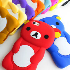 For iPod Touch 4 4th Colorful Black 3D Teddy Bear Silicone Gel Skin Case Cover