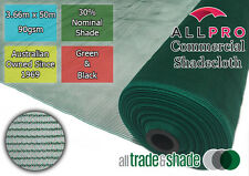 Commercial/Horticultural Shadecloth/Shade Cloth 30% 3.66M x 50M Green OR Black