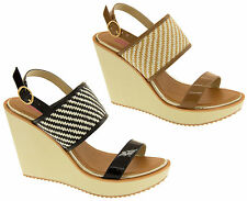 Womens DOLCIS Wedge Sandals High Heel Ladies Platform Open Strappy Summer Shoes